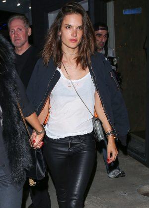 Alessandra Ambrosio night out in West Hollywood