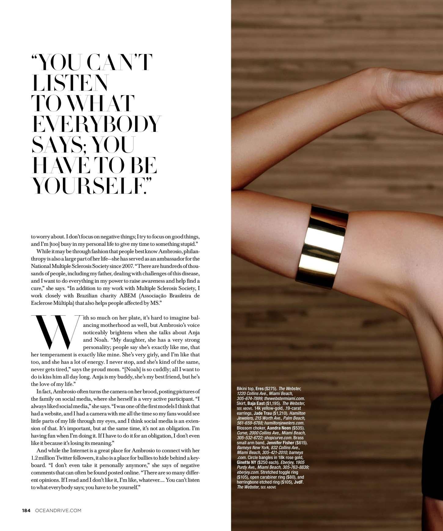 Alessandra Ambrosio 2015 : Alessandra Ambrosio: Ocean Drive 2015 -08
