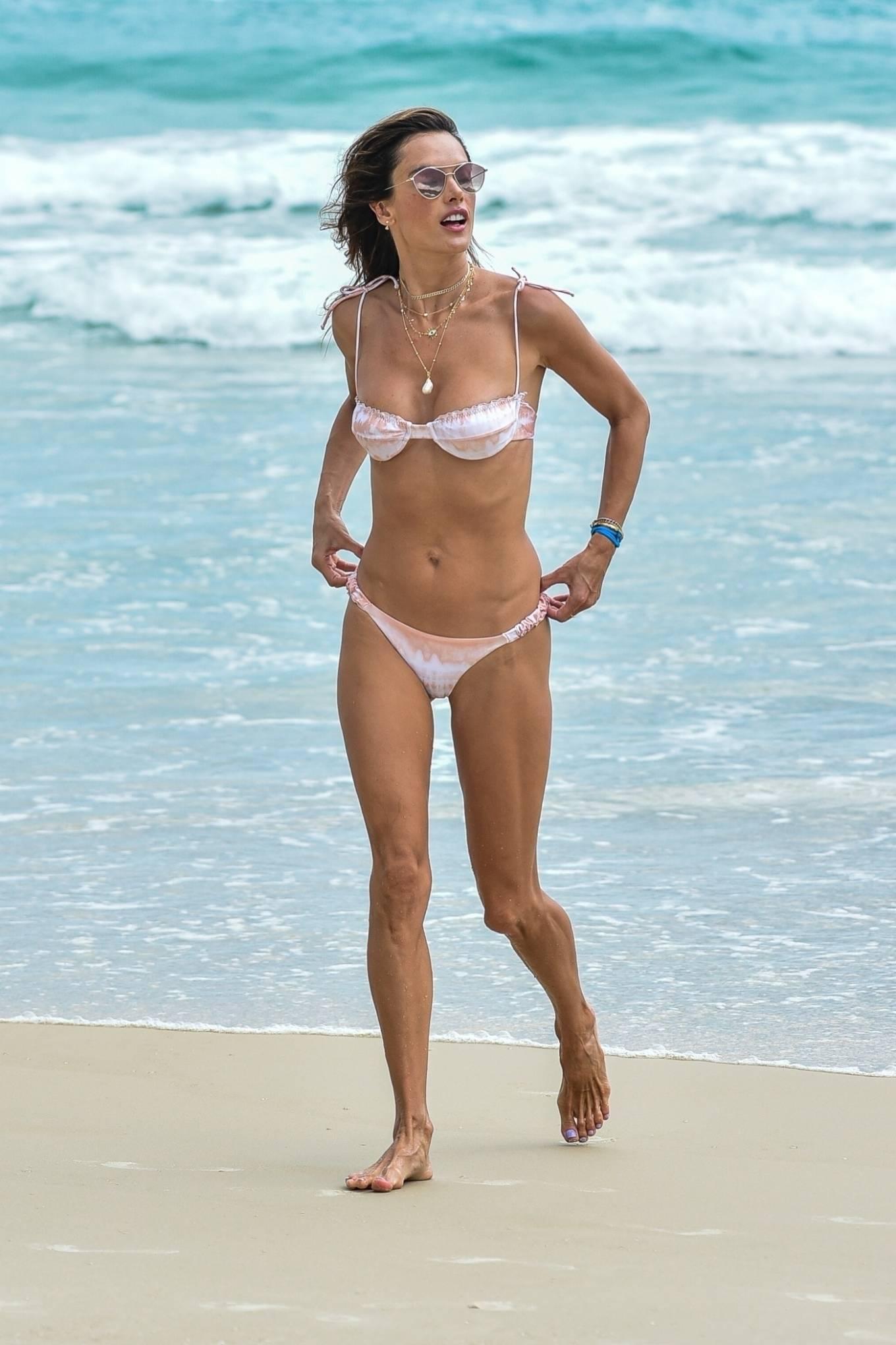 Alessandra Ambrosio - on the beach in Florianopolis
