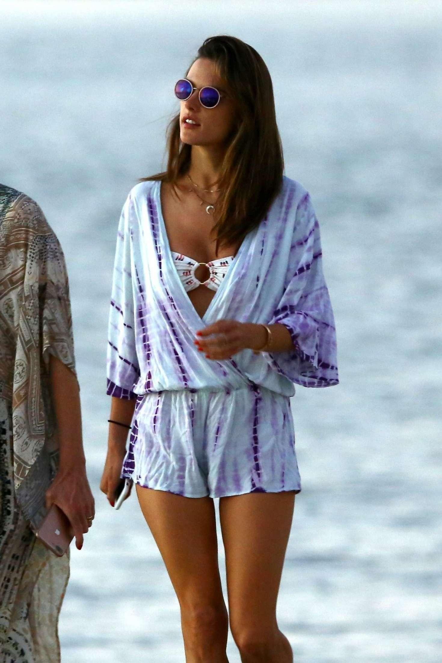 Alessandra Ambrosio on the beach in Florianopolis