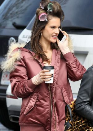 Alessandra Ambrosio on the set of 'Daddy's Home 2 in Concord