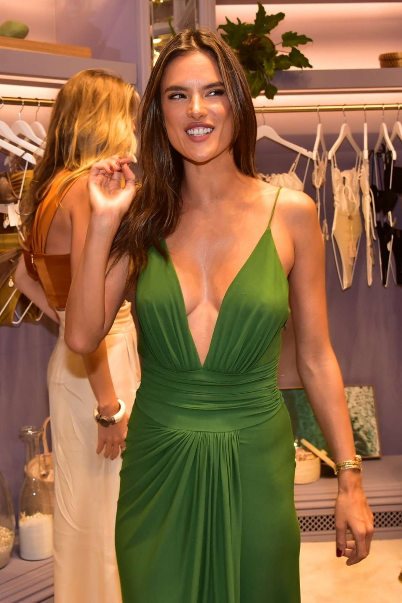 Alessandra Ambrosio - Opens up her first store for her bikini brand in Sao Paulo