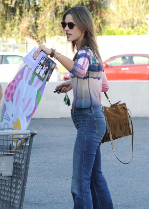 Alessandra Ambrosio in Jeans Out in Santa Monica