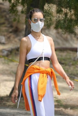 Alessandra Ambrosio - Out for a hike in the Pacific Palisades mountain trails