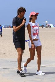 Alessandra Ambrosio - Out for a walk at the beach in Santa Monica