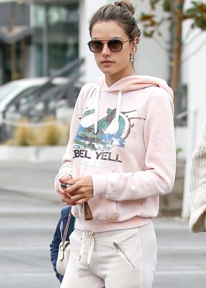 Alessandra Ambrosio - Out for breakfast in Brentwood