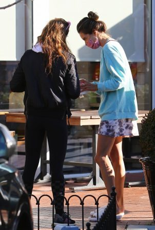 Alessandra Ambrosio - Out for breakfast in the Pacific Palisades