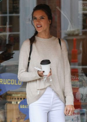 Alessandra Ambrosio Out For Coffee in Concord