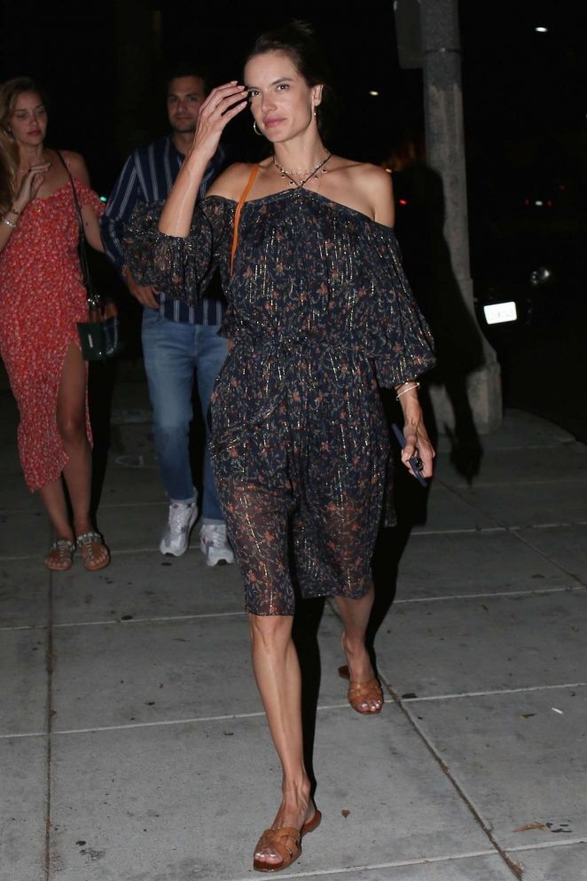 Alessandra Ambrosio out for dinner in Beverly Hills