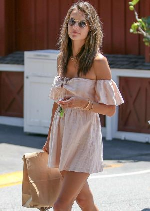 Alessandra Ambrosio out for lunch at the Brentwood Country Mart