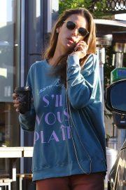 Alessandra Ambrosio - Out grabbing coffee at Sunlife Organics in Pacific Palisades