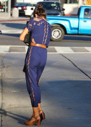 Alessandra Ambrosio in Jumpsuit Out in LA