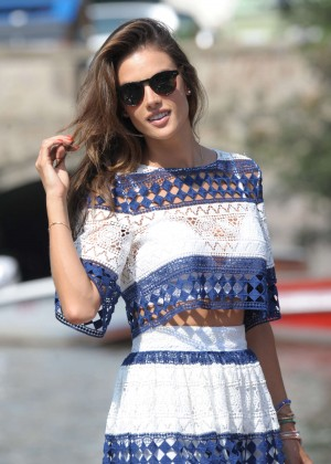 Alessandra Ambrosio out in Venice
