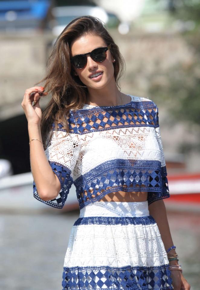 Alessandra Ambrosio out in Venice