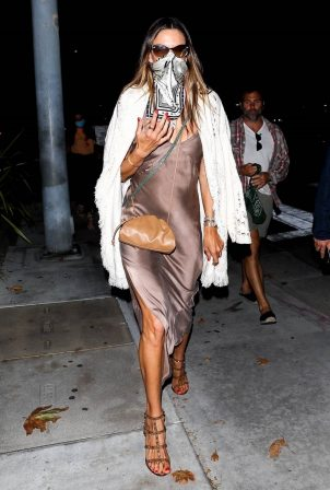 Alessandra Ambrosio - Outside Nobu in Malibu