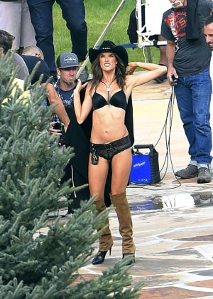 Alessandra Ambrosio - Photo shoot for Victoria's Secret catalog in Aspen