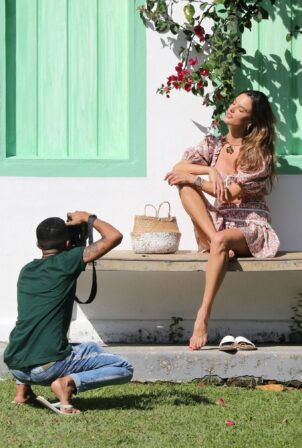 Alessandra Ambrosio - Photoshoot candids in Trancoso