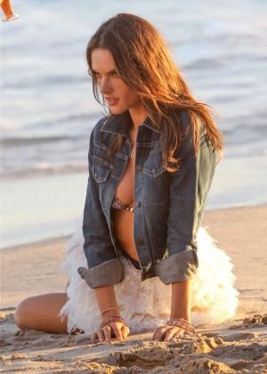 Alessandra Ambrosio - Bikini Photoshoot in Malibu