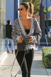 Alessandra Ambrosio - Pictured at  her friend Beauty Institute in West Hollywood