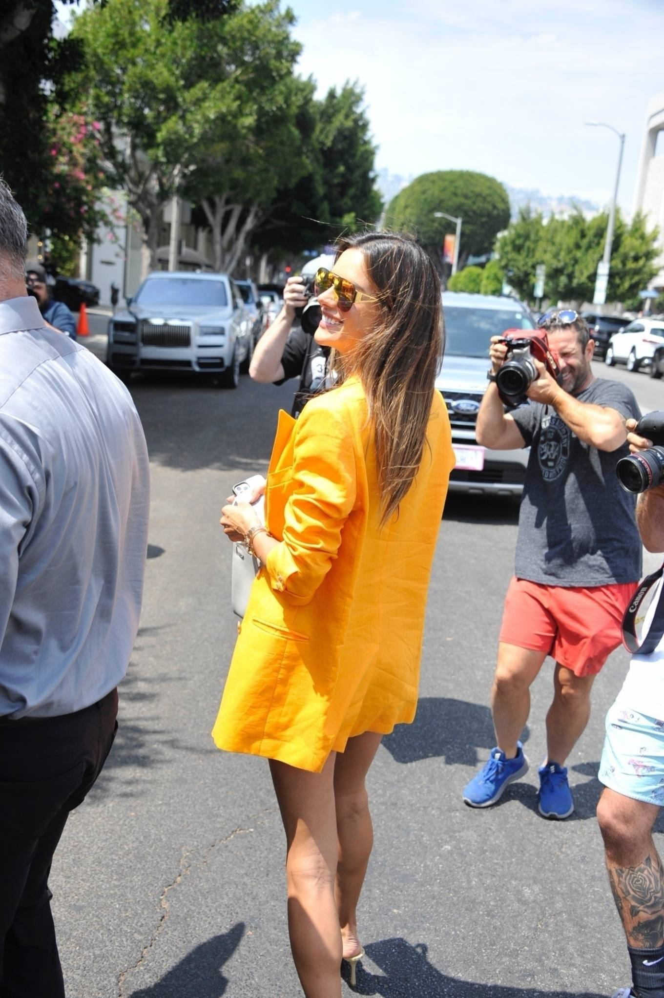 Alessandra Ambrosio 2021 : Alessandra Ambrosio – Pictured at The Ivy for lunch in Beverly Hills-20