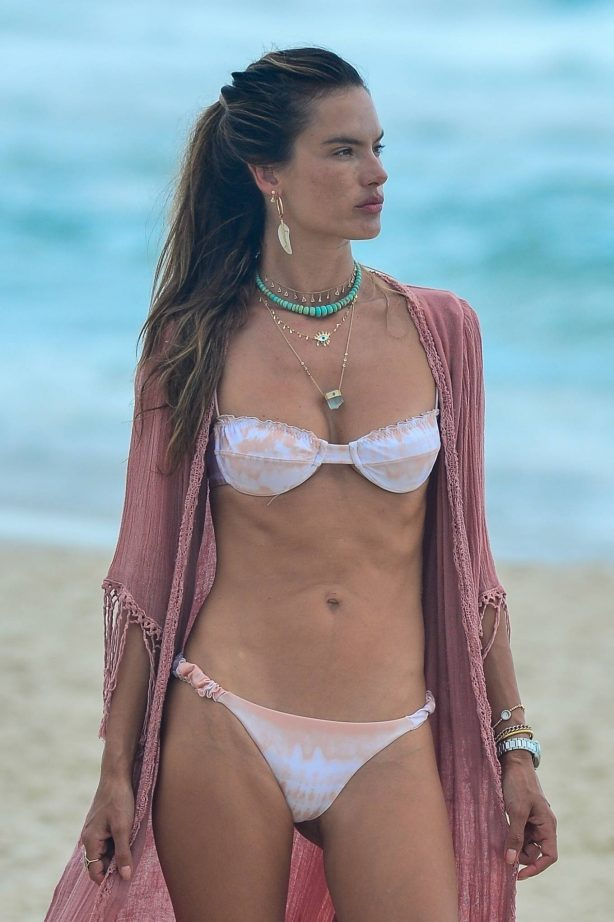 Alessandra Ambrosio - Pictured on the beach in Florianopolis