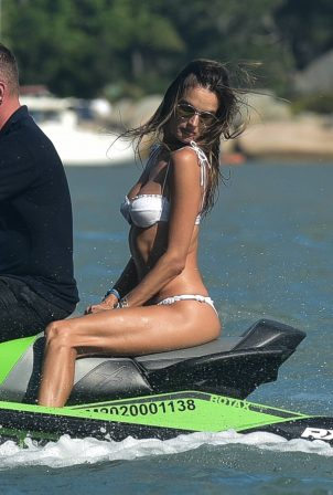 Alessandra Ambrosio - Pictured while jet ski riding in Florianopolis
