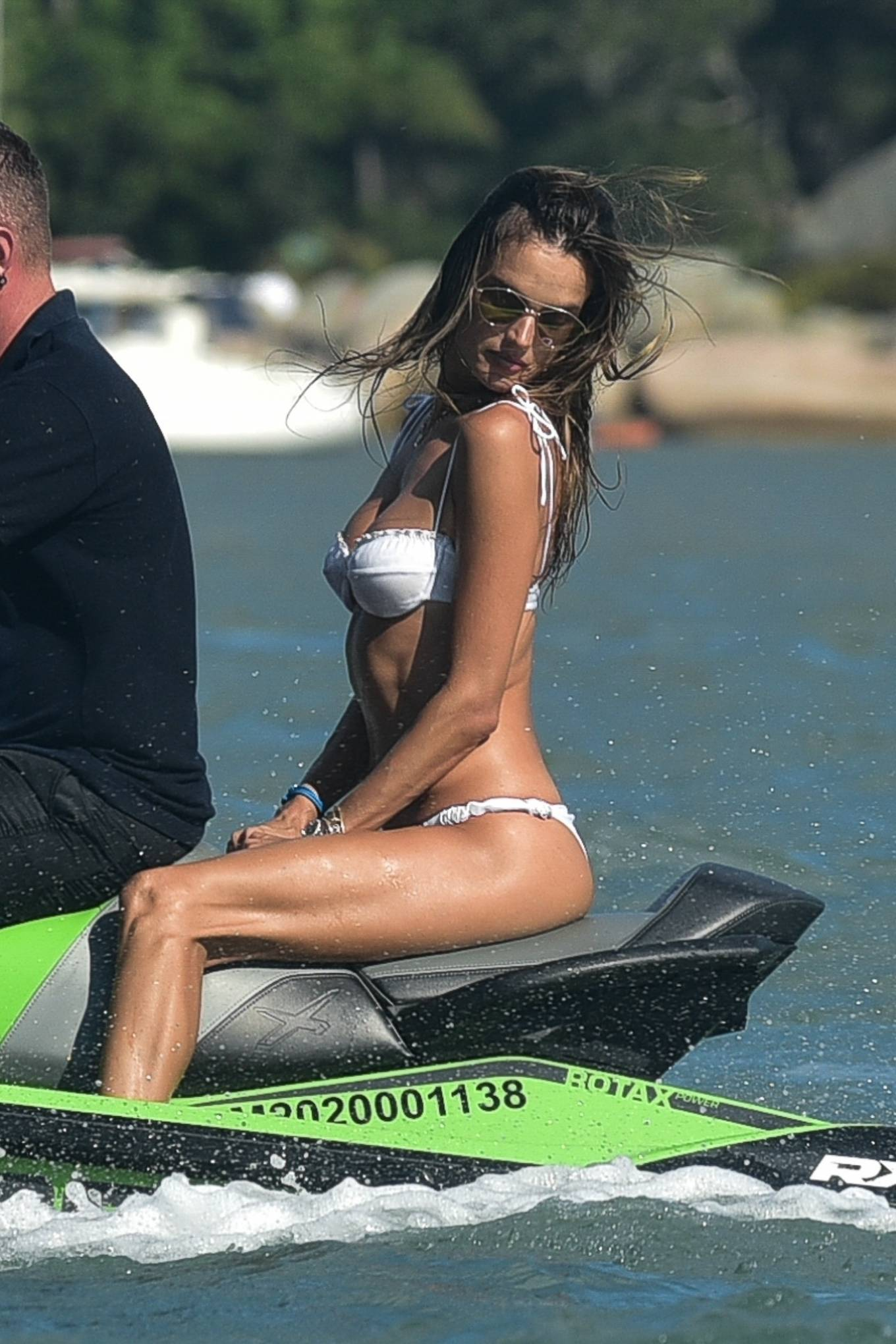 Alessandra Ambrosio - Pictured while jet ski riding in Florianopolis