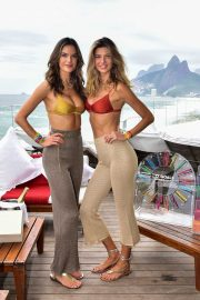 Alessandra Ambrosio - Posing at Carnaval celebration hosted by GAL Floripa in Rio de Janeiro