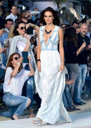 Alessandra Ambrosio: Replay Fashion Show -05
