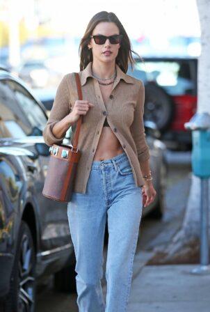 Alessandra Ambrosio - Running errands in West Hollywood