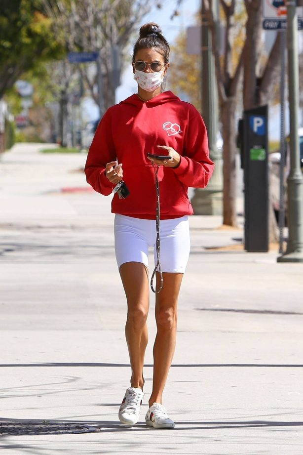 Alessandra Ambrosio - Seen after leaving a pilates in Brentwood