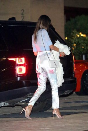 Alessandra Ambrosio - Seen arriving at Nobu for dinner