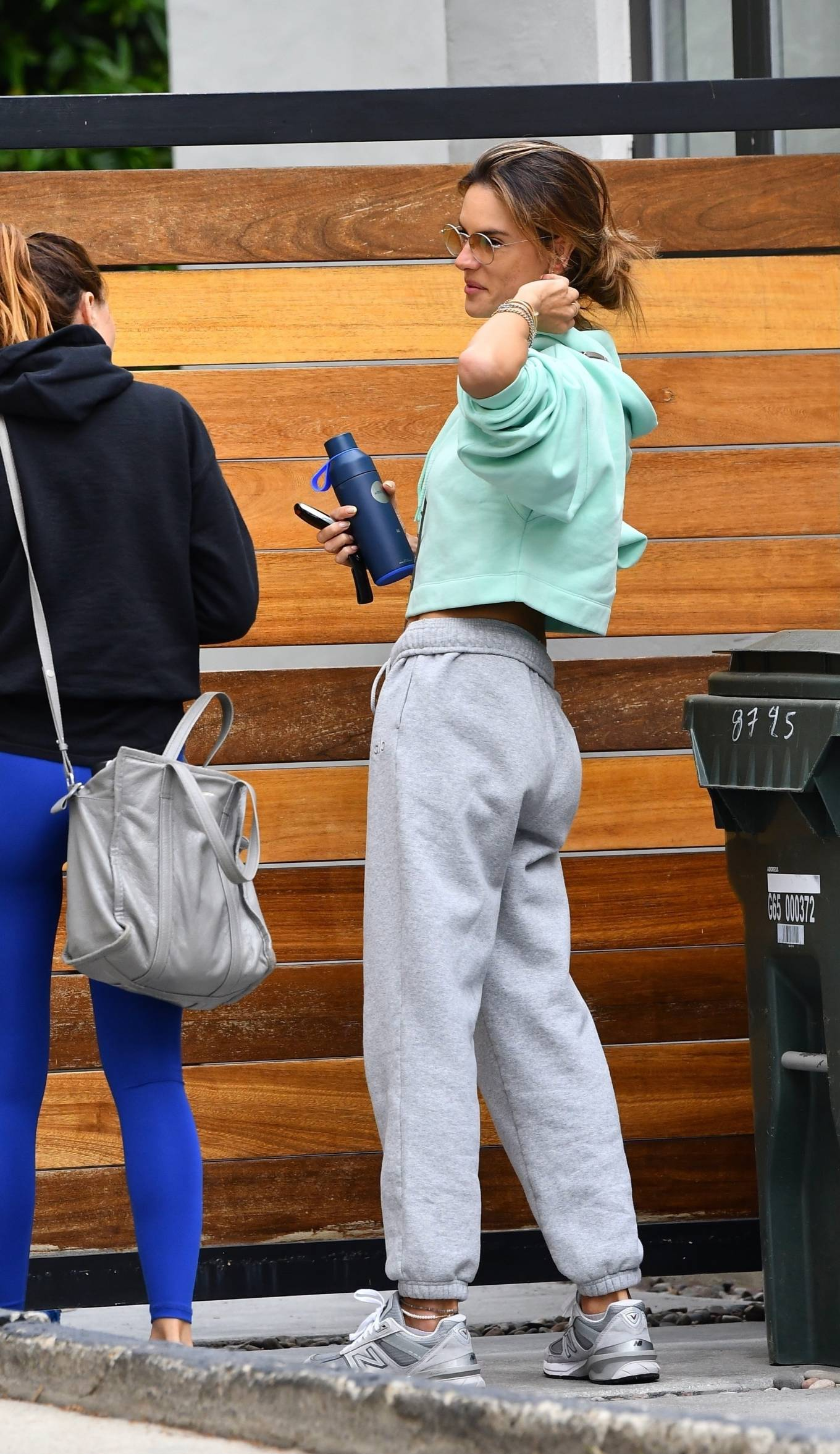 Alessandra Ambrosio - Seen arriving at Pilates in Beverly Hills
