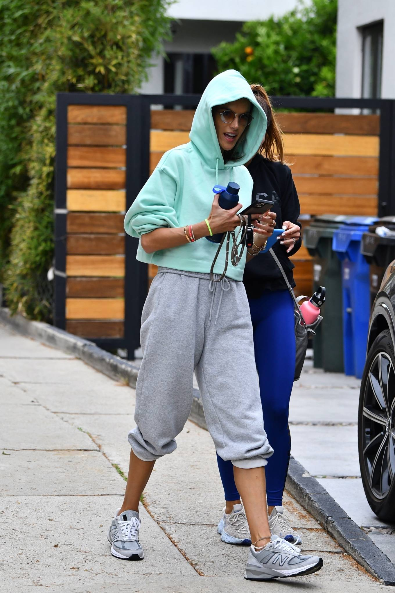 Alessandra Ambrosio 2021 : Alessandra Ambrosio – Seen arriving at Pilates in Beverly Hills-06