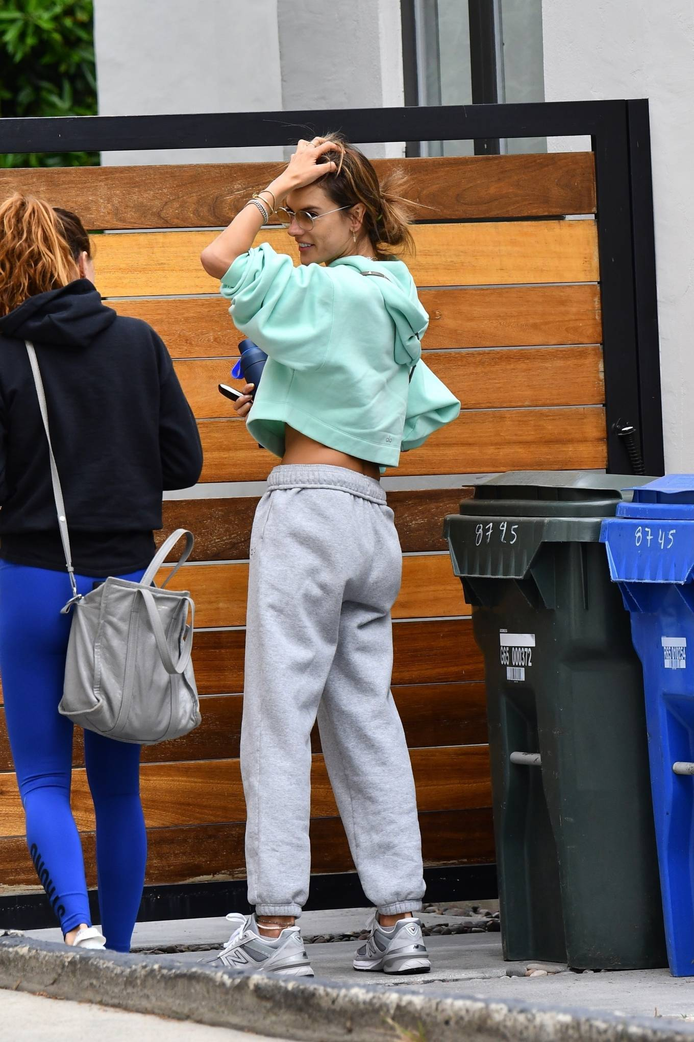 Alessandra Ambrosio 2021 : Alessandra Ambrosio – Seen arriving at Pilates in Beverly Hills-08