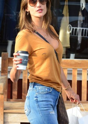 Alessandra Ambrosio -Seen at Caffe Luxe in Brentwood