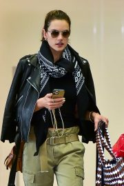 Alessandra Ambrosio - seen at the airport in Sao Paulo - Brazil