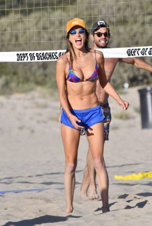 Alessandra Ambrosio - Seen at the beach in Malibu