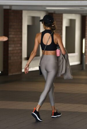 Alessandra Ambrosio - Seen in yoga leggings while out for a Pilates in Los Angeles