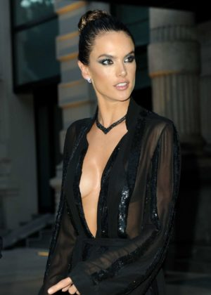 Alessandra Ambrosio - Seen Leaving her hotel in Milan