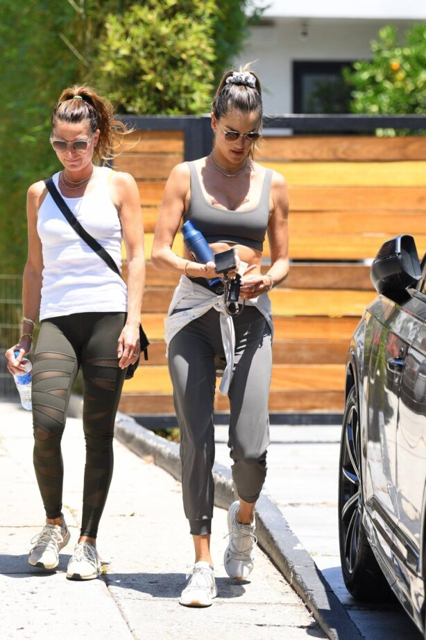 Alessandra Ambrosio - Seen leaving pilates in West Hollywood