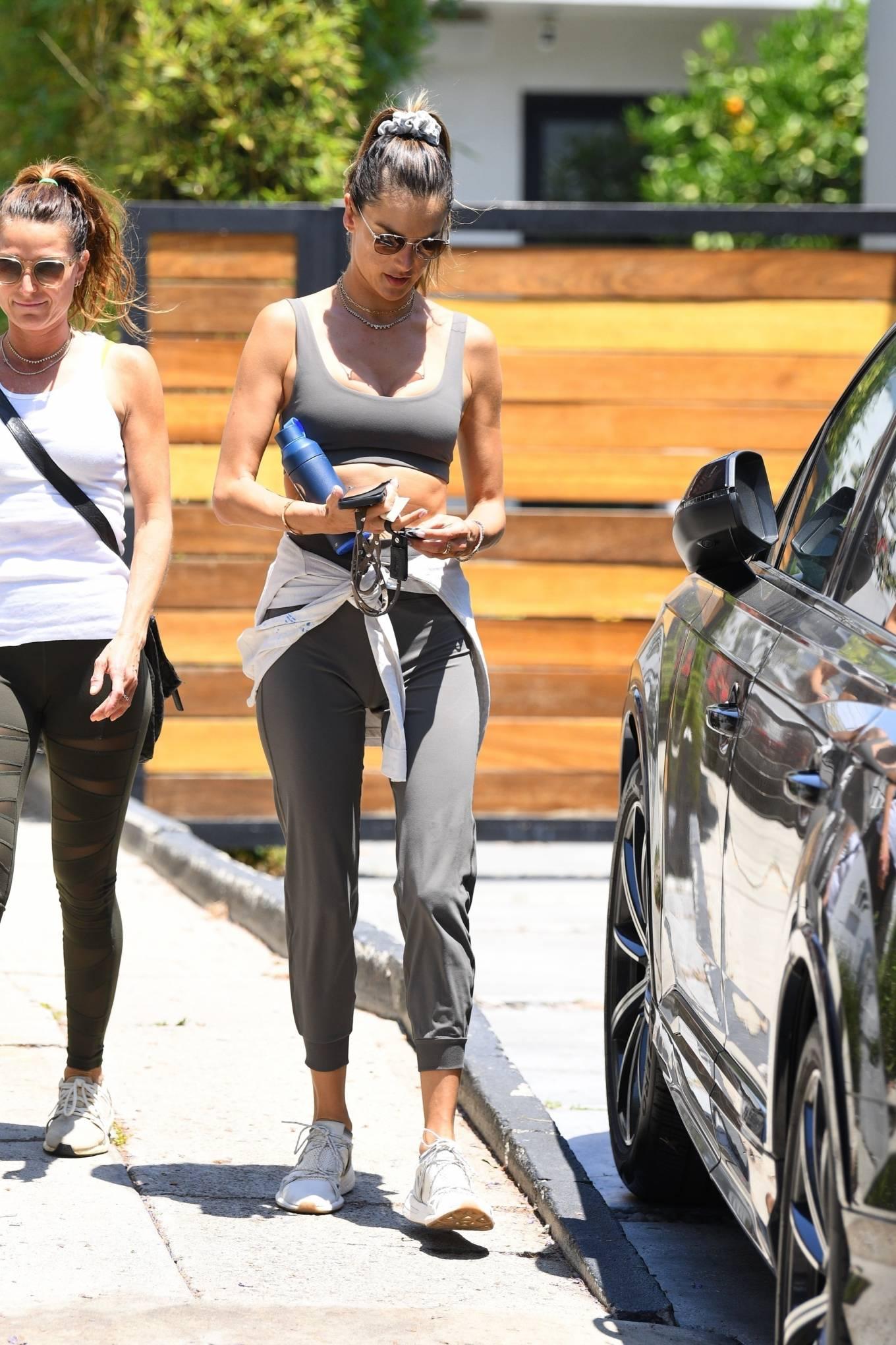 Alessandra Ambrosio 2021 : Alessandra Ambrosio – Seen leaving pilates in West Hollywood-10