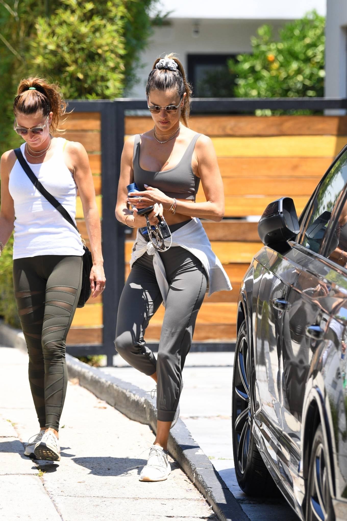 Alessandra Ambrosio 2021 : Alessandra Ambrosio – Seen leaving pilates in West Hollywood-11