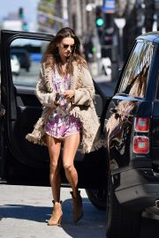 Alessandra Ambrosio - Seen while out for lunch in Santa Monica