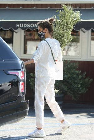 Alessandra Ambrosio - Shopping at a Flower Store in Brentwood