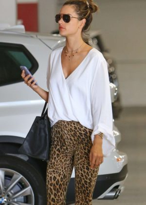 Alessandra Ambrosio - Shopping at the Century City Mall in Century City
