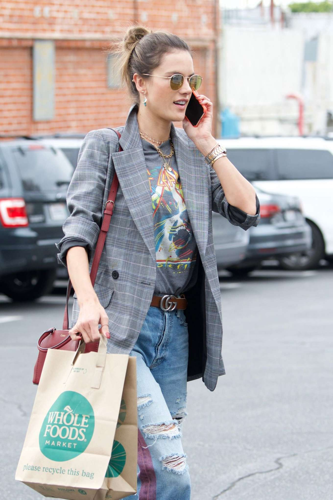 Alessandra Ambrosio - Shopping at Whole Foods in Los Angeles