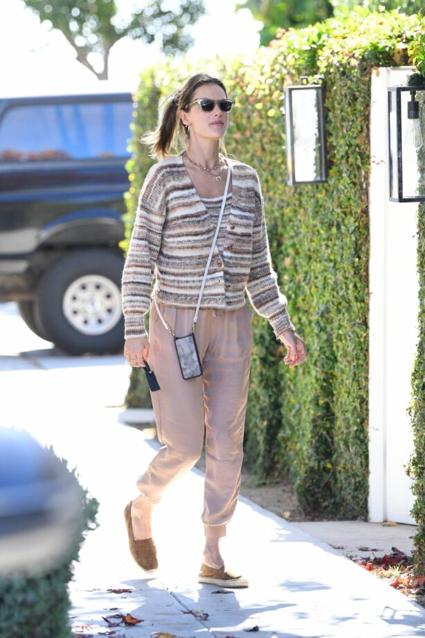 Alessandra Ambrosio - Shopping candids at Brentwood Country Mart