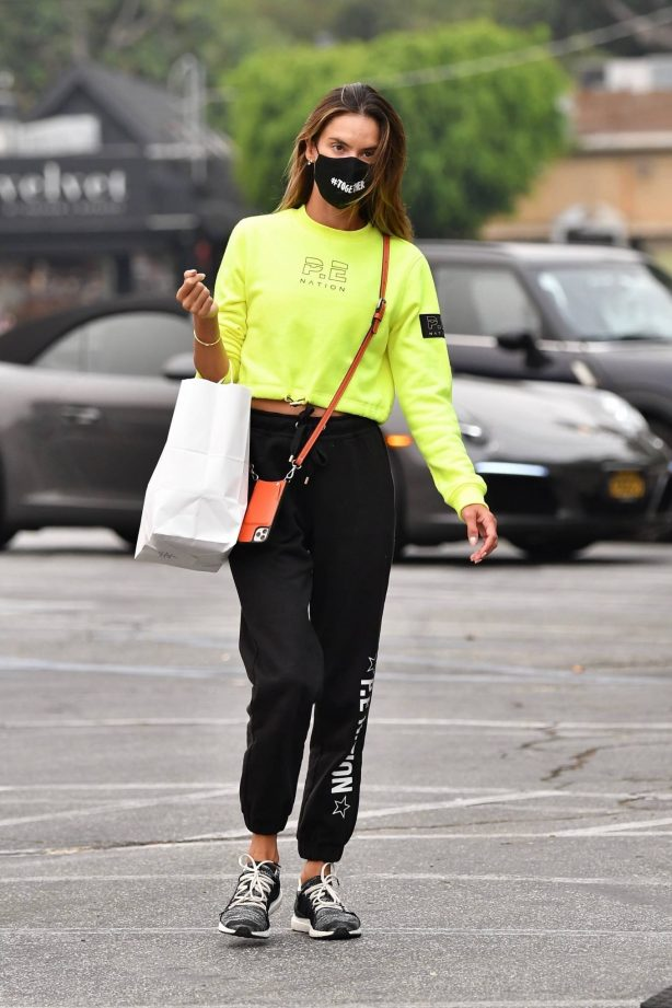 Alessandra Ambrosio - Shopping candids at Country Mart in Brentwood