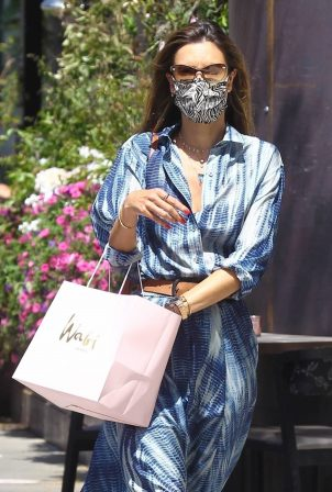 Alessandra Ambrosio - Shopping candids with her daughter Anja in Los Angeles